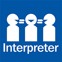 National Interpreter Symbol with Text